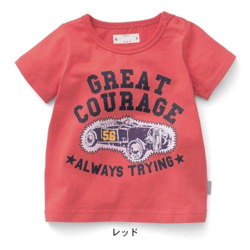 サラサラコットン半袖Tシャツ  #bellemaison #ベルメゾン #baby #boy #girl #T-shirt