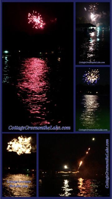 #Cottage Green on the Lake.com ...  #4th of July #fireworks #lake