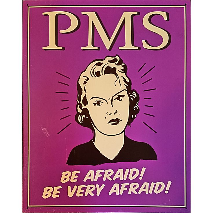 PMS Metal Sign Humor Funny 16 x 12 inch Be Afraid Purple Female m283                                                                                                                                                                                 More