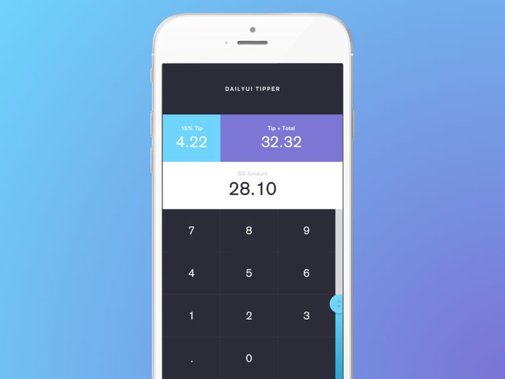 Tip Calculator - #DailyUI #004