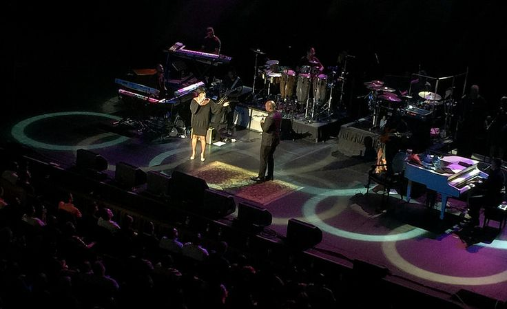 The duet! Michael McDonalds' song. @MsPattiPatti bringing it! From @MahaffeyTheater #TwitterPerch. #Iphone6 #photography