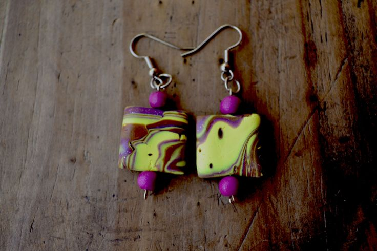 aros, earrings color clay