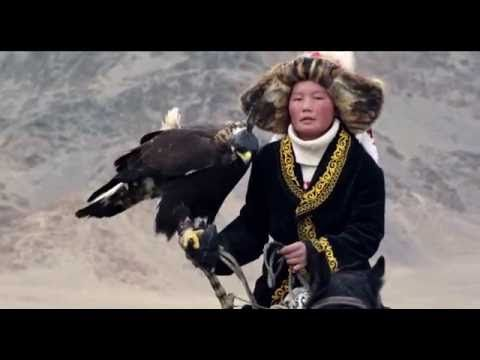 The Eagle Huntress (Trailer)  The Eagle Huntress follows Aisholpan, a 13-year-old girl, as she trains to become the first female in 12 generations of her Kazakh family to become an eagle hunter and rises to the pinnacle of a tradition that has been handed down from father to son for centuries.   (via https://www.youtube.com/watch?v=Vfi5JS6HTH0)