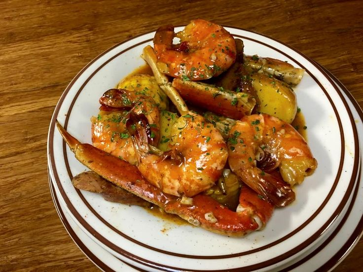 """The """"Seafood Bowl"""" from my in-laws' soul food restaurant."""