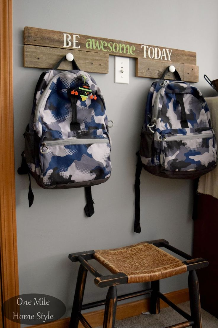 Reclaimed Wood Backpack Hangers - One Mile Home Style