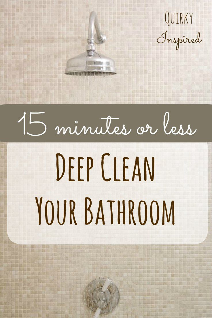 Who has time to clean all the time. Get your bathroom deep cleaned in 15 minutes with these awesome cleaning hacks and tricks