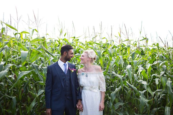 A Bohemian Syle Ethically Produced Wedding Dress For An Eco Friendly Somerset Wedding