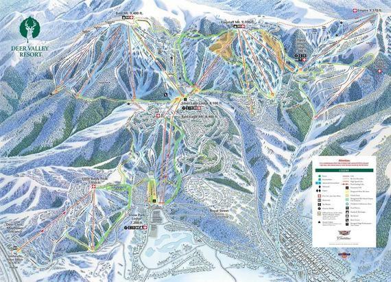 Wrapped Canvas 2017 Deer Valley Ski Trail Map Deer Valley Ski Deer Valley Resort Deer Valley Ski Resort