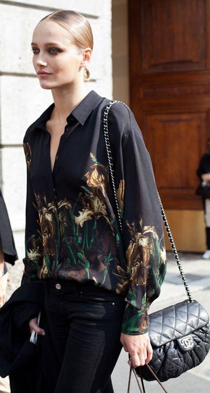 Street Style | Milan Fashion Week | http://www.harpersbazaar.com/fashion/fashion-articles/milan-fashion-week-street-style-spring-2013#slide-86