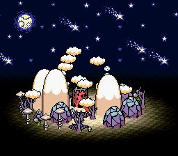 "suppermariobroth: "" The Mode 7 rotating Yoshi's Island and Koopa Kingdom from the Yoshi's Island title screen. """
