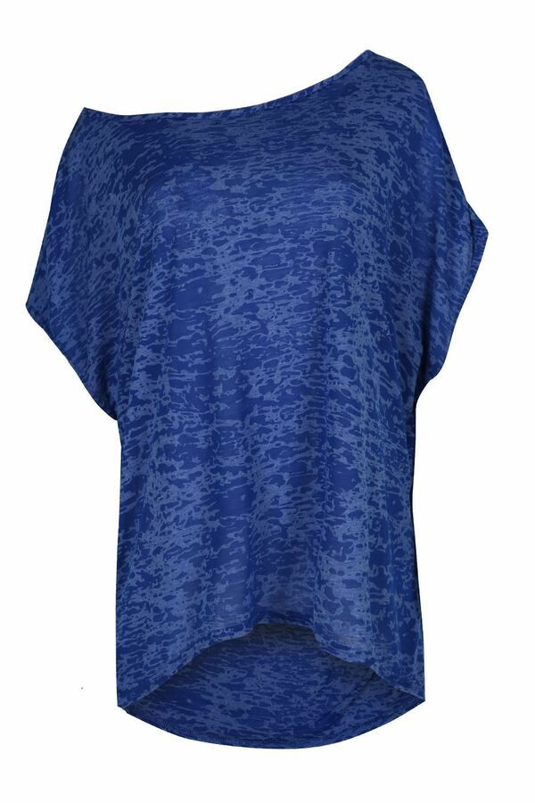 Womens Ladies Stars Hi Low Batwing Sleeve Oversized Baggy Dipped Hem T Shirt Top