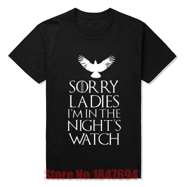Good Price $8.63, Buy New Arrival Men Summer Fashion Style T Shirts Game of Thrones Nights Watch Oath T-shirts Short-sleeve Fitness Tshirts