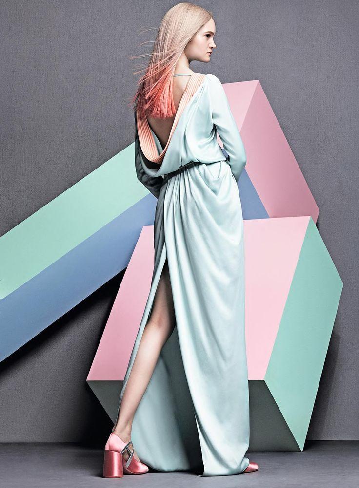 Mia Gruenwald by Takay for Harper's Bazaar Germany August 2015