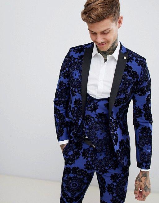f38ce374ca4b Twisted Tailor super skinny tuxedo suit jacket in flocking in 2019 | Jason  Style | Tuxedo suit, Jackets, Tuxedo