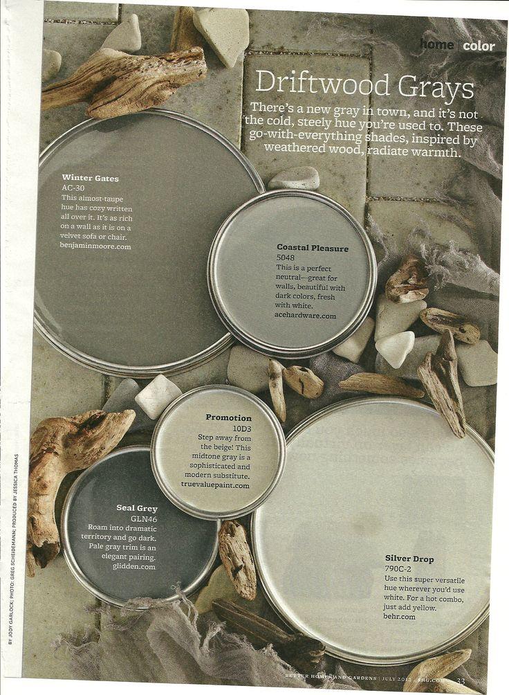 Gray paint color ideas via BHG mag