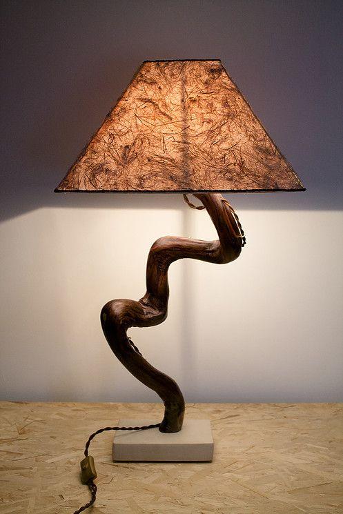 31 migliori immagini legnointesta lampade da tavolo su for Lampada da tavolo design legno