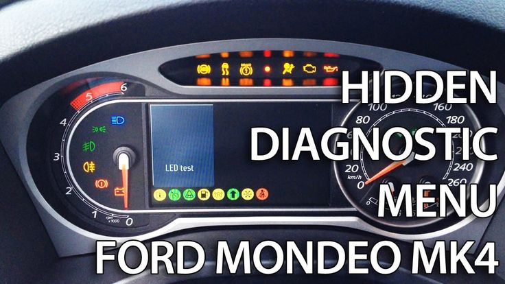 ford mondeo mk hidden diagnostic menu  needle sweep