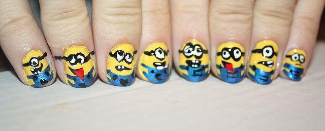 minion nails - so cute!