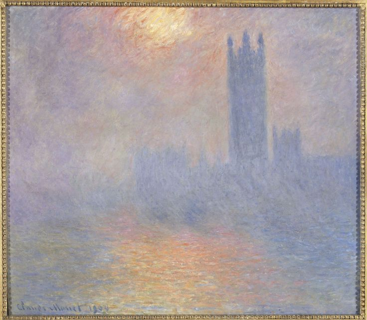 Londres, le Parlement. Trouée de soleil dans le brouillard, 1904,  olio su tela  81,5x92,5 cm  Parigi, Musée d'Orsay