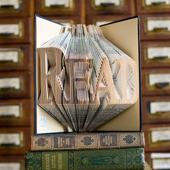 READ Folded Upcycled Book Art Sculpture by TheFoldedPageShop, £50.00