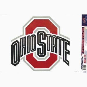 Ohio State XL Logo by WinCraft. $10.94. Chrome. In Stock. Removable Vinyl Sticker. 11x17. Officially licensed Ohio State University ultra decal cling will stick to many surfaces and is removable and reusable.  The Ohio State University logo comes on a transparent background.  Can be used outdoors or indoors.  Proudly made in the USA.  Size is approximate.  College, student, sports, Buckeyes, NCAA, National Collegiate Athletic Association.