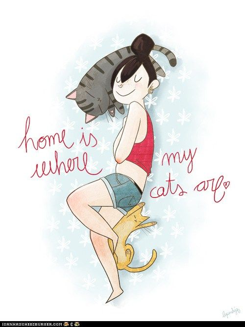 Home is where my cats are <3 True!!