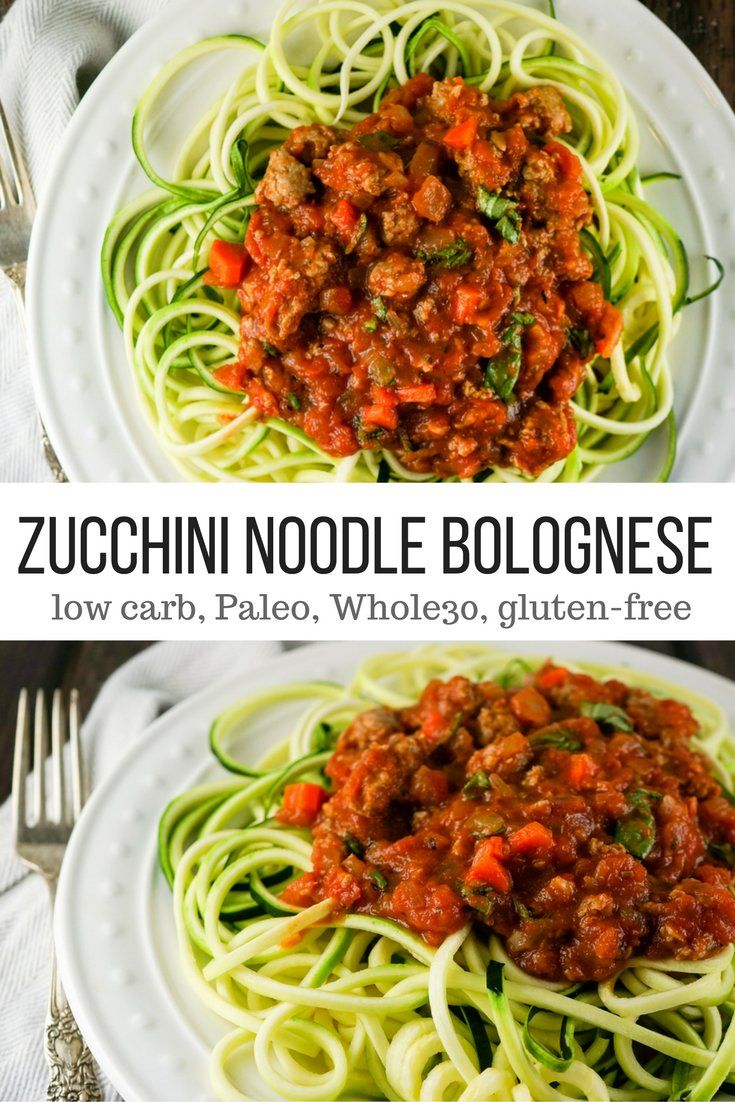 Zucchini Noodle Bolognese - Slender Kitchen. Works for Clean Eating, Gluten Free, Low Carb, Paleo, Weight Watchers® and Whole30® diets. 417 Calories.