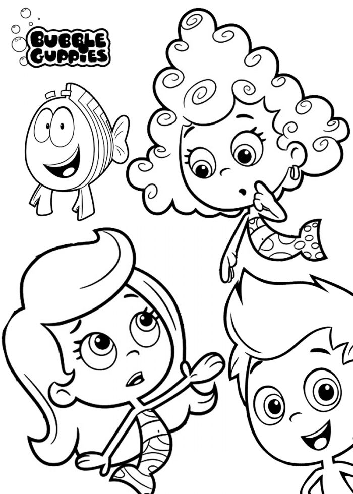 273 best cartoon coloring pages images on pinterest | adventure ... - Bubble Guppies Coloring Pages Goby