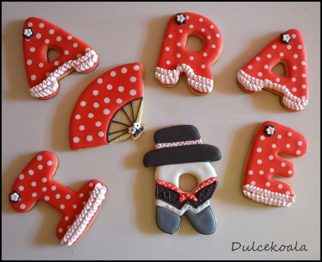 Galletas decoradas flamencas