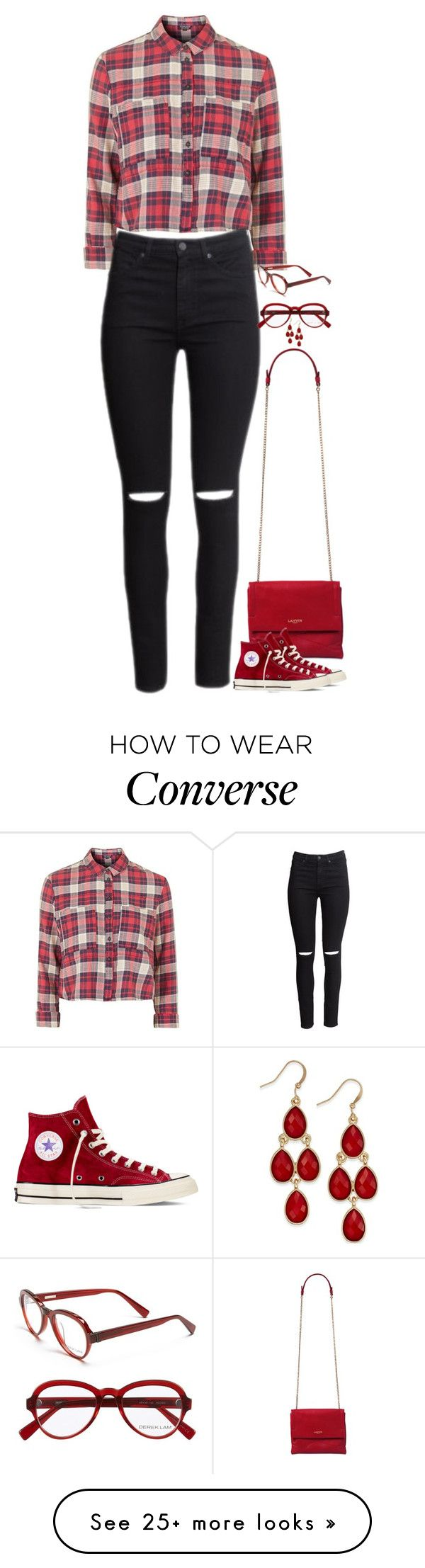 """""""Untitled #4529"""" by miki006 on Polyvore featuring Topshop, H&M, Style & Co., Derek Lam and Converse"""