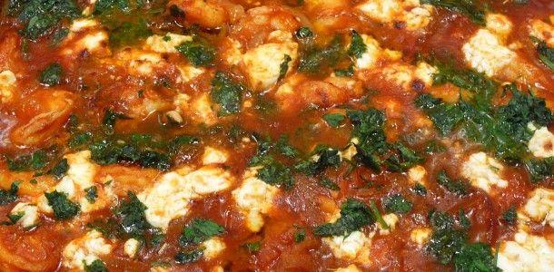 Garides Saganaki – Shrimp Saganaki This looks delicious!