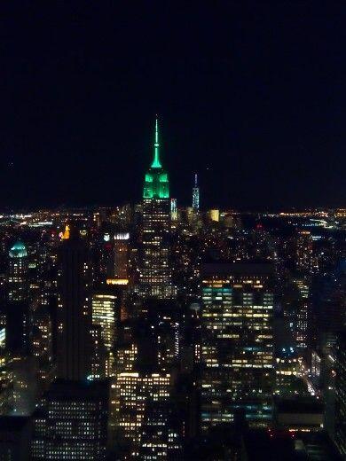 New York. Empire Estate green