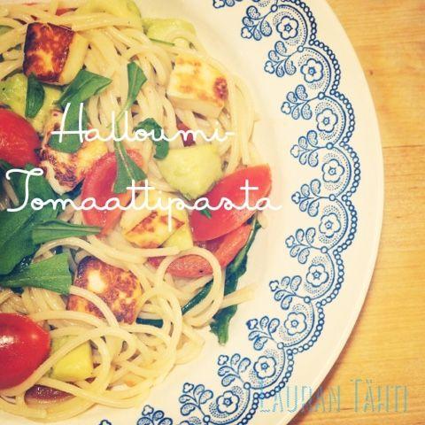 Halloumi-tomaattipasta
