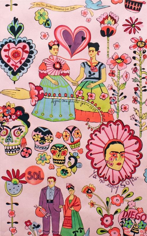 Alexander Henry Fabric Las Dos Fridas Rose