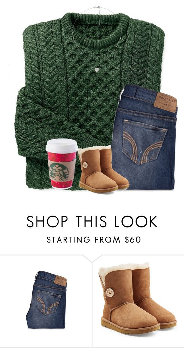 """""""&.MY CRUSH DONT LIKE ME..."""" by jxst-like-galaxy ❤ liked on Polyvore featuring Hollister Co., UGG and Folli Follie"""