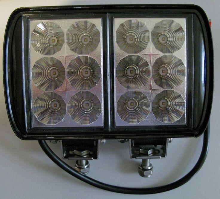 LED Arbeitsscheinwerfer 10-30V Rechteckig 12LED 3000Lumen EMV-geprüft