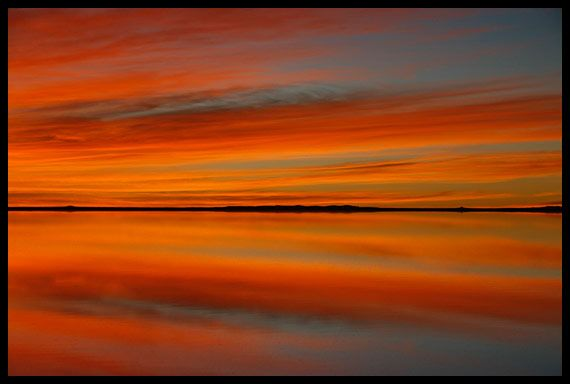 Solt Lake - Sun set -Turkey