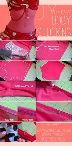 DIY Belly Dance Body Stockings / Belly Stocking - SPARKLY BELLY