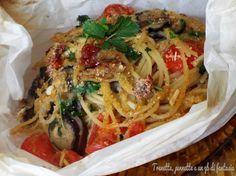 Spaghetti con melanzana al cartoccio, piccola idea per un piatto ricco e gustoso da preparare il giorno di San Valentino. Semplice nella realizzazione ma..