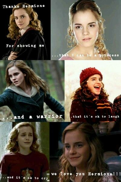 Hermione Jean Granger is one of my all time favorite characters. I love her like a fictional sister.