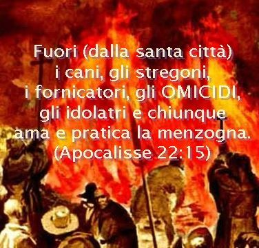 I contrdditori devono essere convinti, non arsi vivi come ha fatto Giovanni Calvino |-------------> Al limite si può espellere dalla comunione fraterna e dalla Chiesa chi contraddice, chi è ribe...