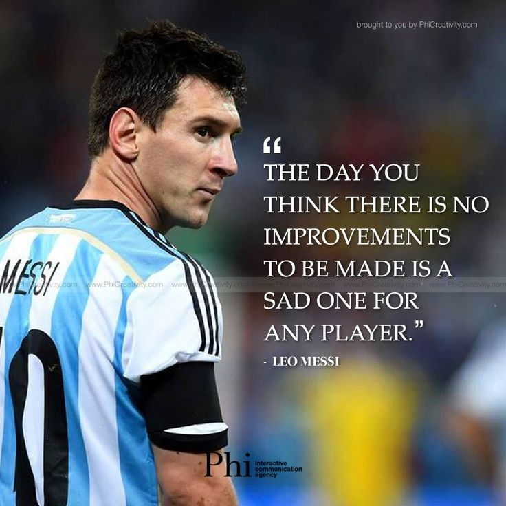 Pin by Phi.Agency on Daily PhiQuotes July 2015 | Quotes by ...Messi Quotes About Life