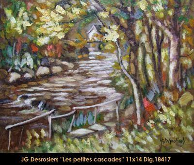 Original oill painting on canevas by Jean-Guy Desrosiers #jeanguydesrosiers #artist #canadianartist #quebecartist #art #fineart #figurativeart #originalpainting #oilpainting #hiddenriver #summerscene #balcondart #multiart
