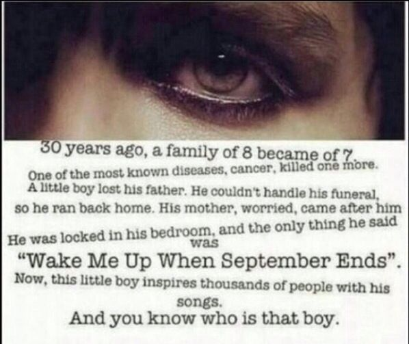 I FUCKING CRIED WHEN I READ THIS AND THEN I READ WAKE ME UP WHEN SEPTEMBER ENDS AND THEN I FUCKING BAWLED MY EYES OUT AND EVERYONE WAS STARING AT ME UNTIL I REALIZED 'OH SHIT, I'M ON A FUCKING SUBWAY'