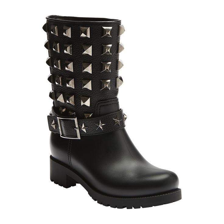 #philippplein #fallwinter2014 #fw2014 #shoes #boots #leather #rubberboots #studded #buckles