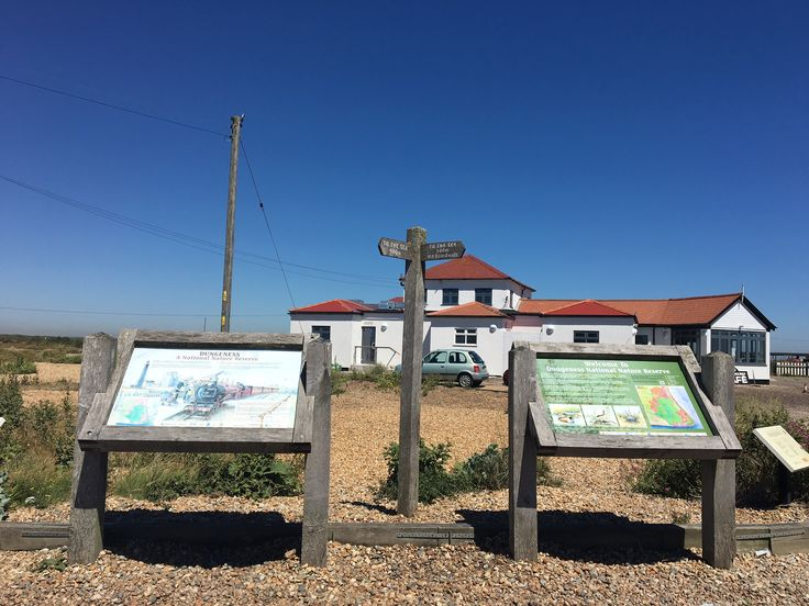 Sunny day at Dungeness in Kent