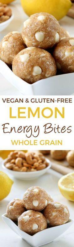 Lemon Energy Bites - super easy and full of lemon flavor! (vegan, gluten-free, whole grain, and dairy-free)