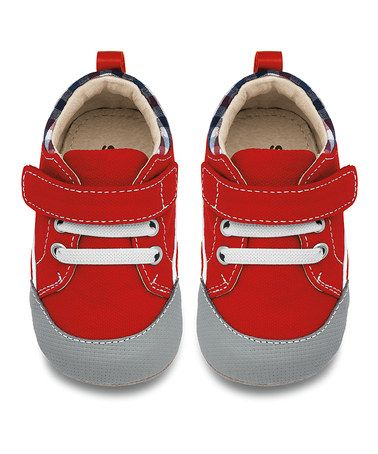 Love this SMALLER Red & White Cody Sneaker Booties on #zulily! #zulilyfinds
