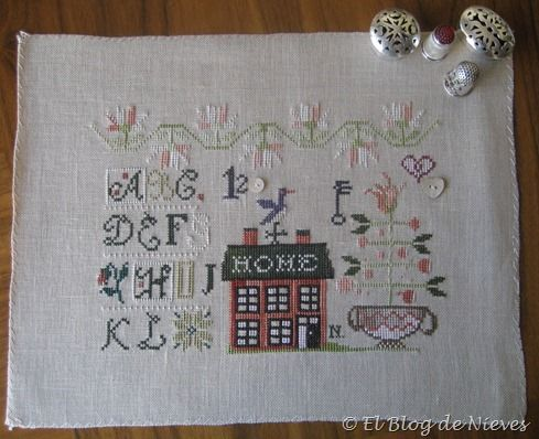 Home Springs Eternal de Shakespeare's Peddler punto de cruz cross stitch point de croix