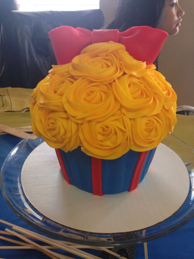 Giant Snow White Cupcake